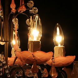 シャンデリア用キャンドル型電球