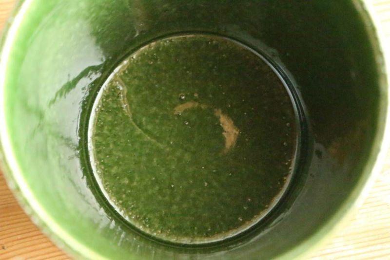 美濃焼きのマグカップ緑いろむら