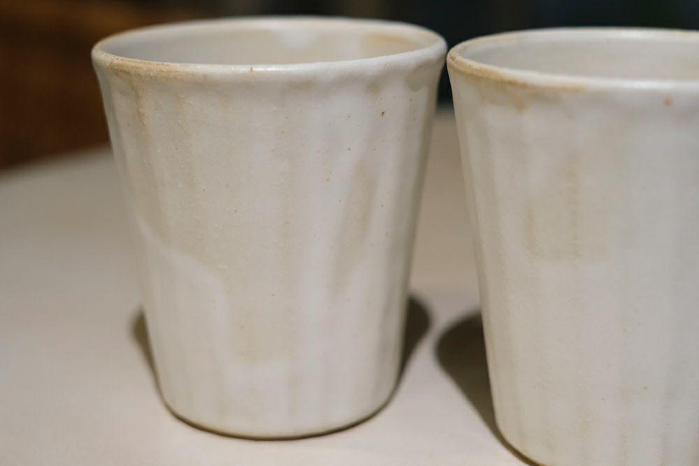 益子焼きの職人手作りのマグカップ