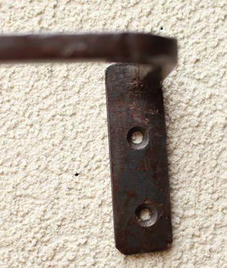 素朴な鉄のタオルハンガー/Mサイズ