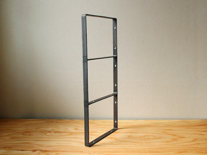 素朴な鉄のフレームブラケット4段(高さ51cm 奥行24cm)