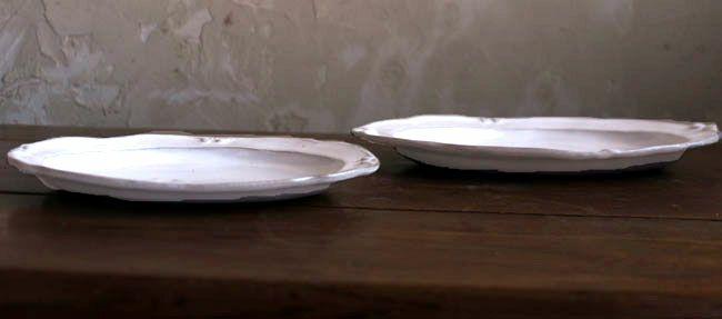 益子焼・カヌレオーバル皿Sサイズ(ツヤあり)