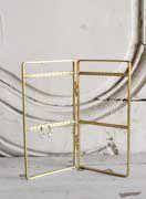 真鍮のスタンド式ピアスホルダー
