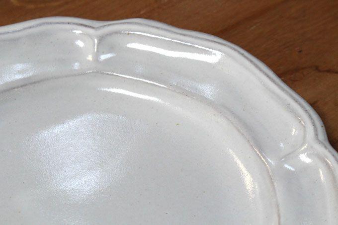 益子焼・カヌレラウンド皿Lサイズ/22.5cm(ツヤあり)