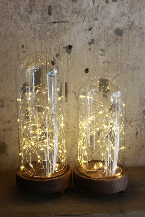 LEDが中に入ったガラスドーム