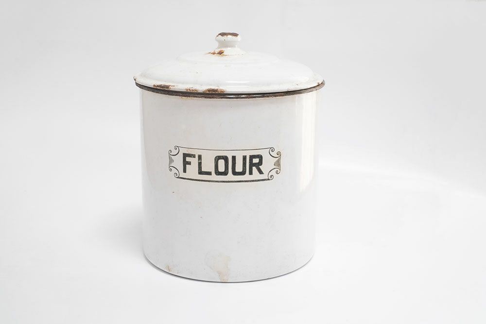 アンティーク・ホーローFLOUR缶