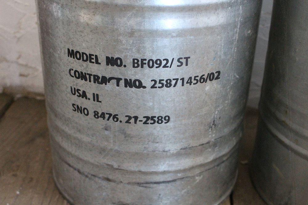 ブリキのドラム缶・プランターケース