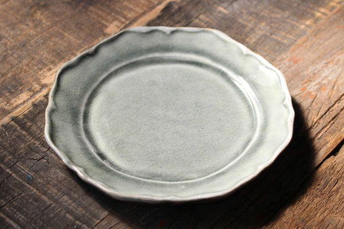 益子焼・フリルケーキ皿