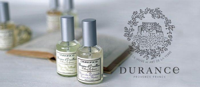DURANCE(デュランス)社製オーガニック・ピローミスト&オードトワレ
