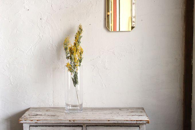 花瓶になるガラスシリンダーベース
