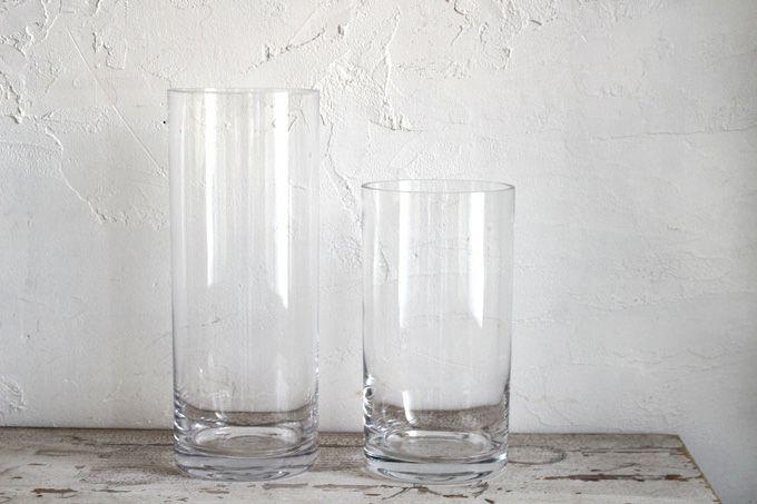 ナチュラルなガラスシリンダーベース