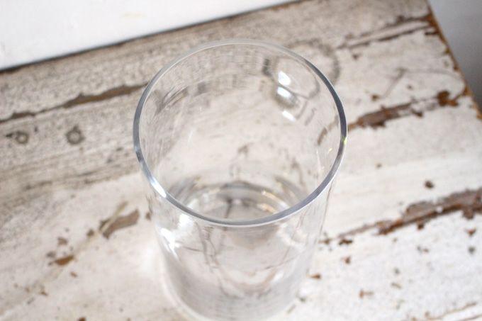 花瓶になるガラス円柱ベース