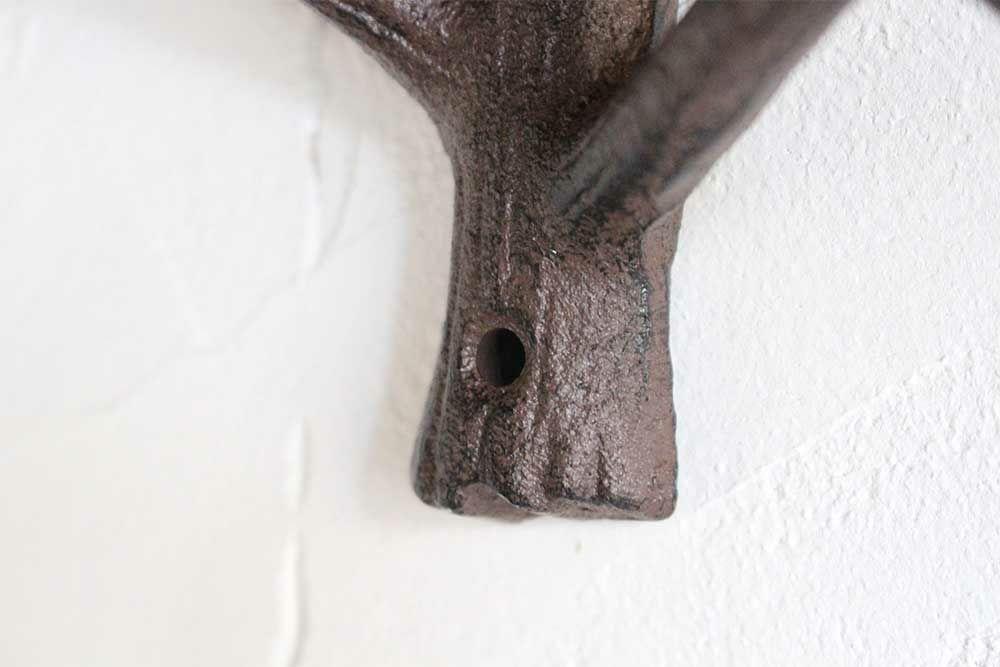 小枝のアイアンフック/ダークブラウン