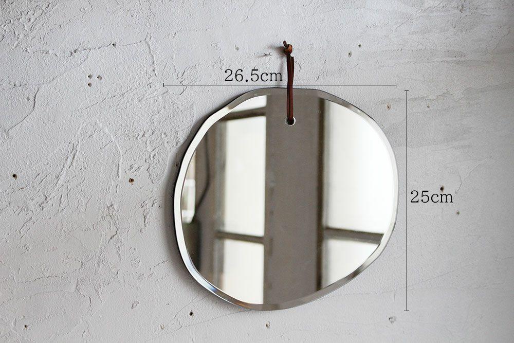 アシンメトリー壁掛けミラー