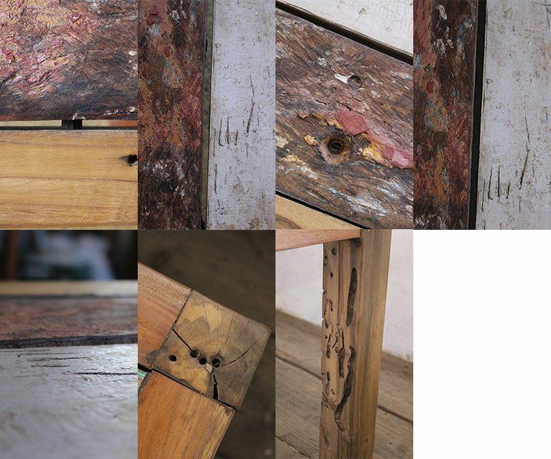 天板は隙間や段差、穴があります