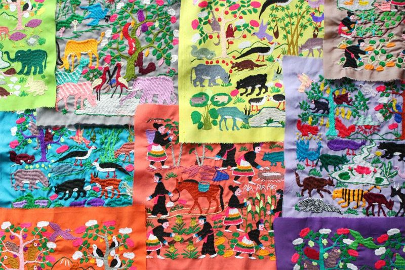 モン族の手仕事刺繍
