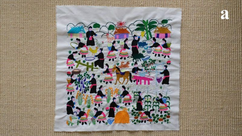 ラオスの丁寧な手仕事刺繍