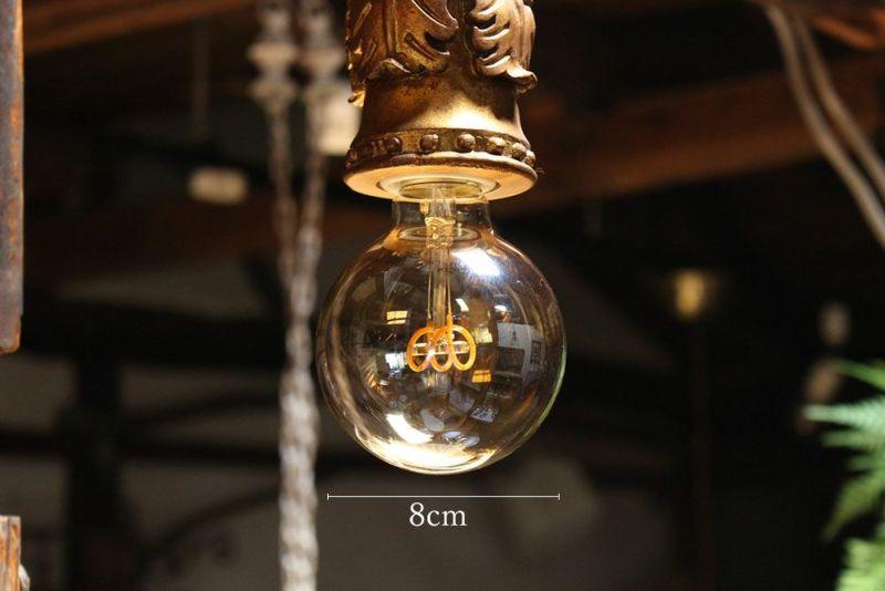 フィラメントの形がかわいいLED電球