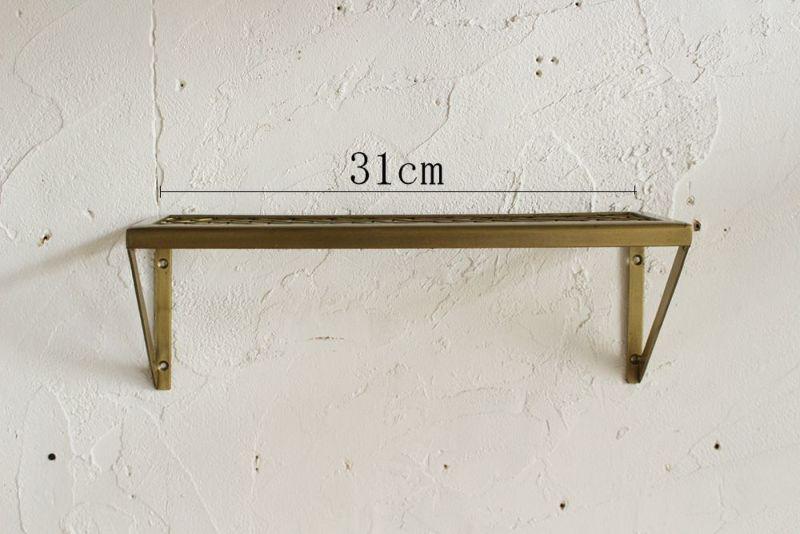幅31cmのメタルウォールシェルフ