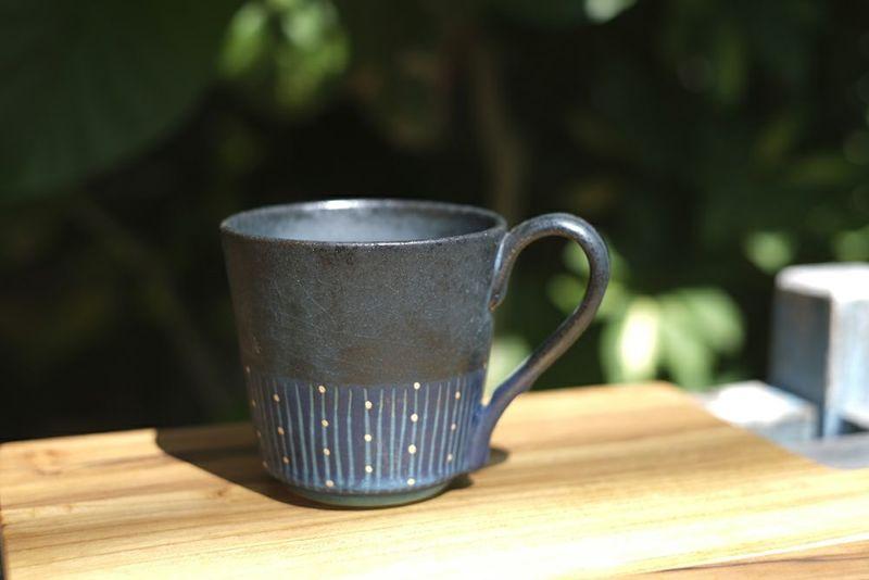 笠間焼のマグカップ