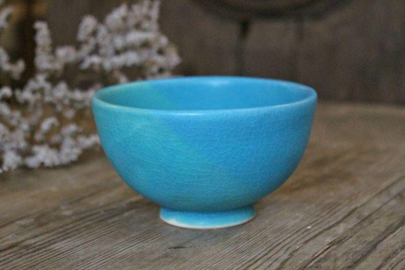 色彩碧釉の飯碗