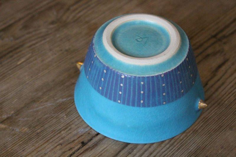 美しい笠間焼の小鉢