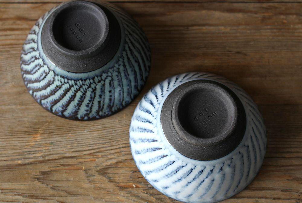 美濃焼・スパイラル平茶碗