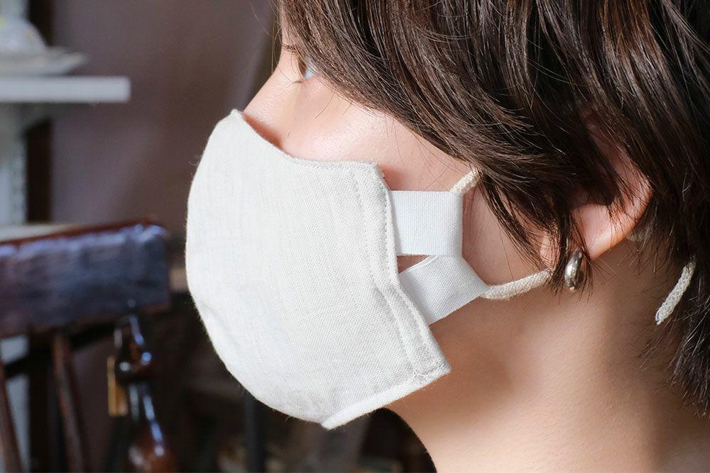 オーガニックコットンの立体マスク