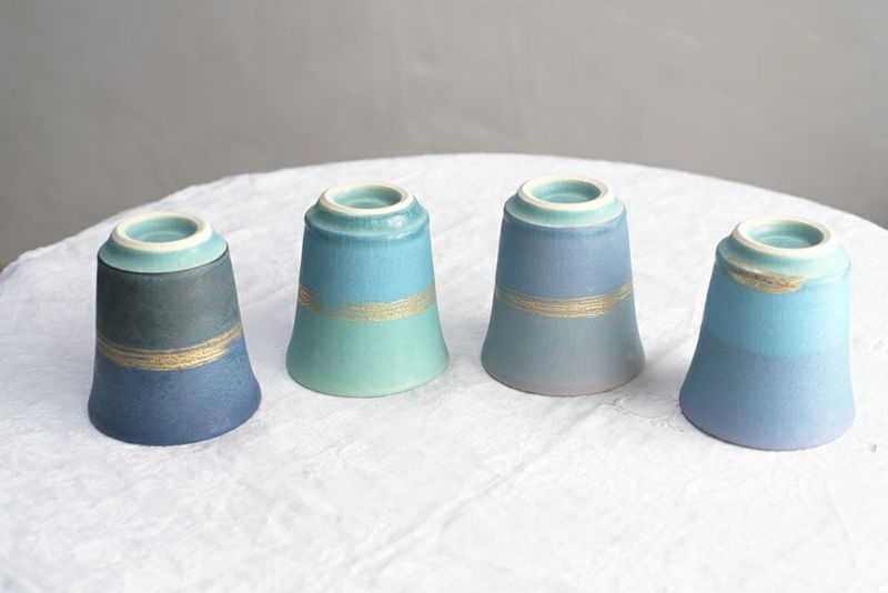 笠間焼の綺麗なコップ
