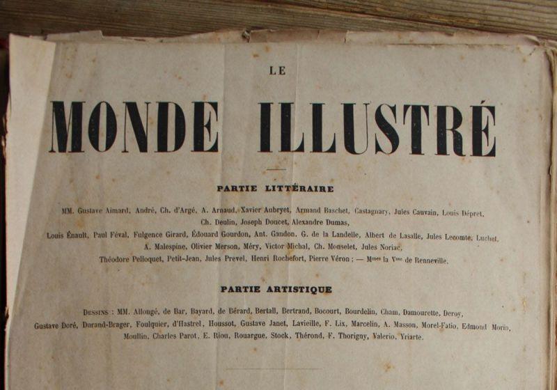 フランスのアンティーク新聞1800年代