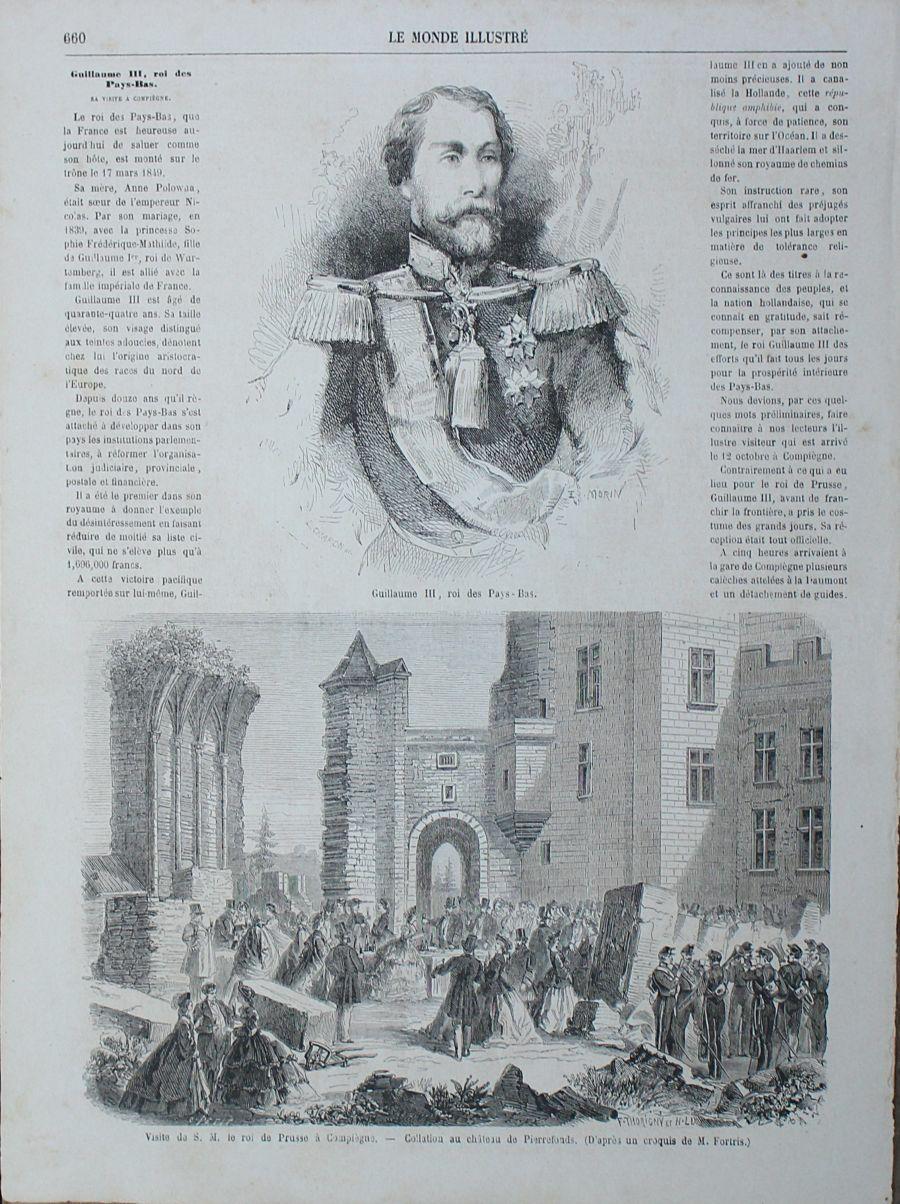 アンティークLe Monde illustr1860年代リトグラフ