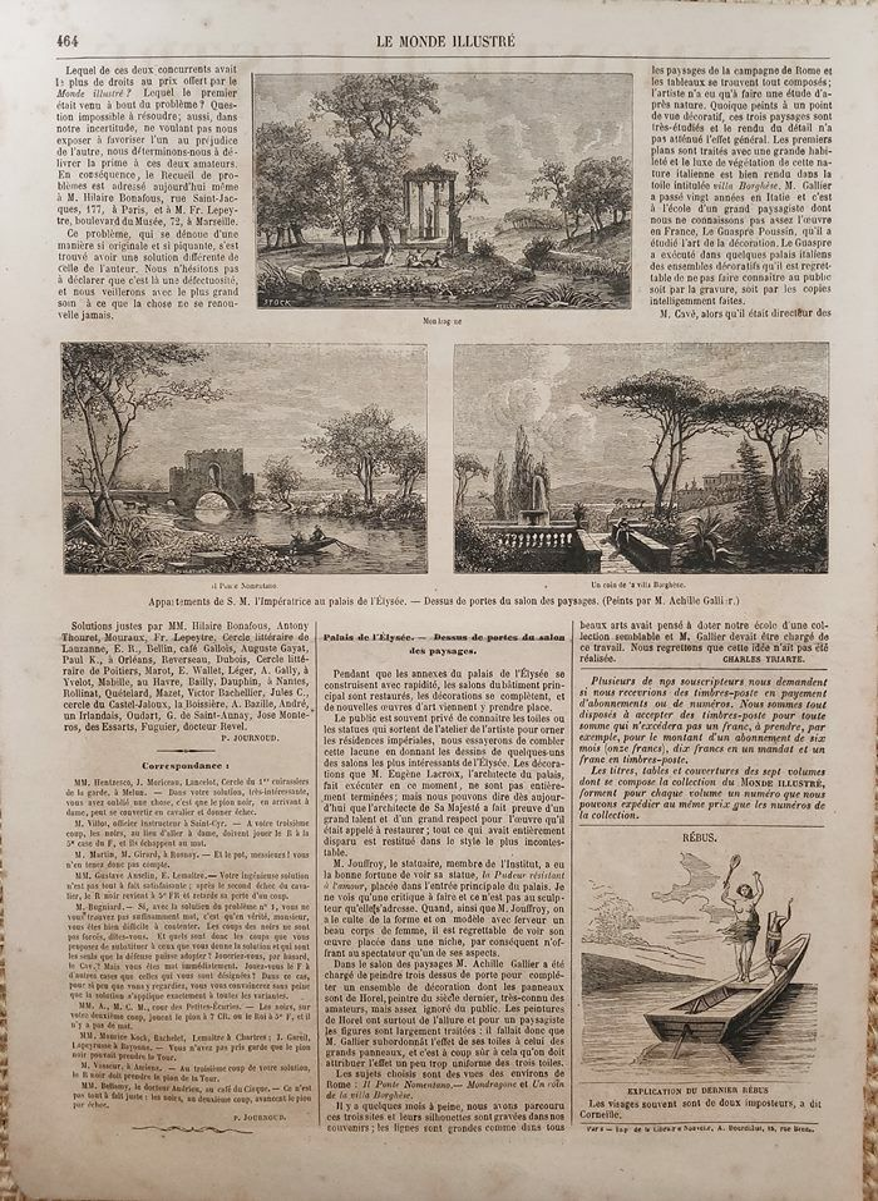 フランスのアンティーク新聞のビーナスの挿絵