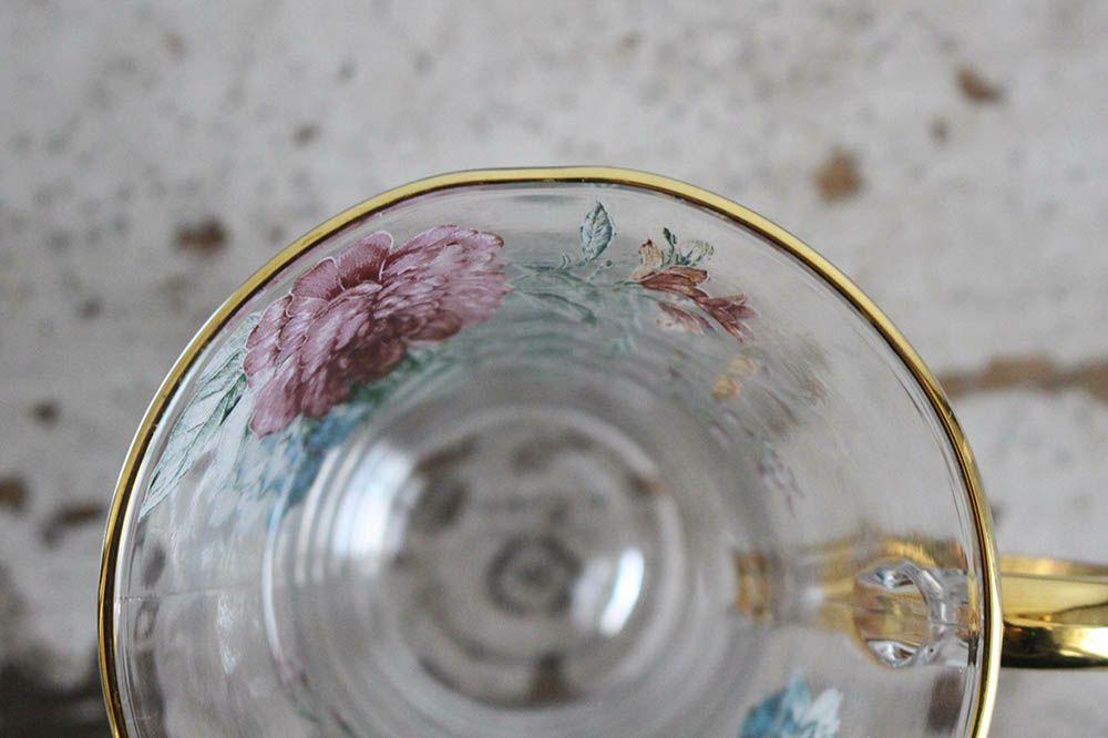ブルームガラスカップ&ソーサー