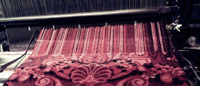 ウィルトン織りのカーペット