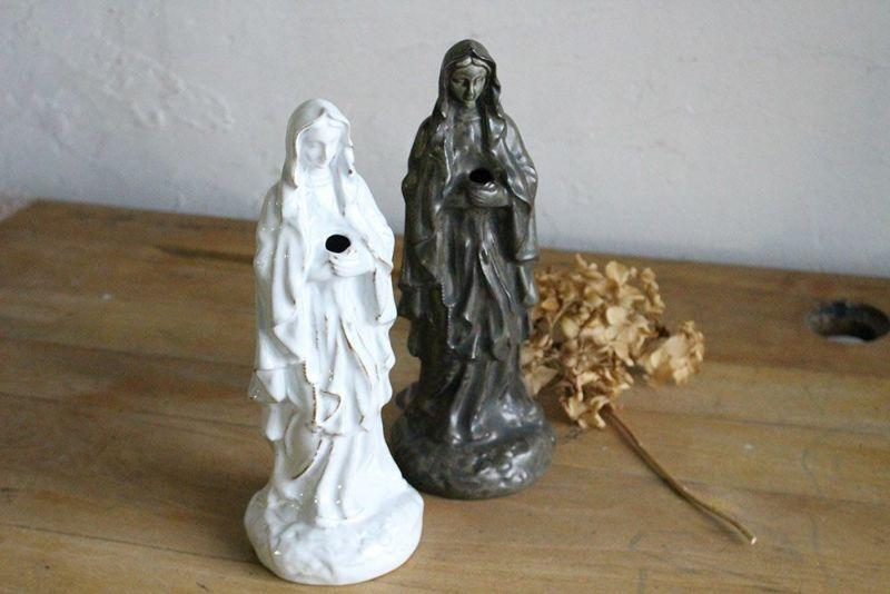 マリア様の陶器像