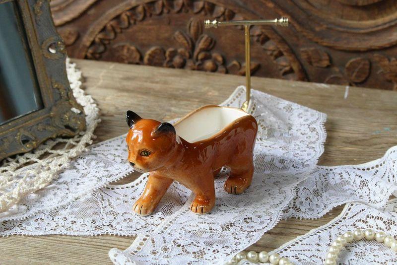 茶トラ猫の小物入れ