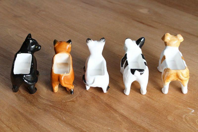動物の陶器製ジュエリーボックス