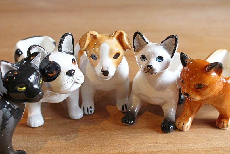 可愛い表情の犬猫雑貨