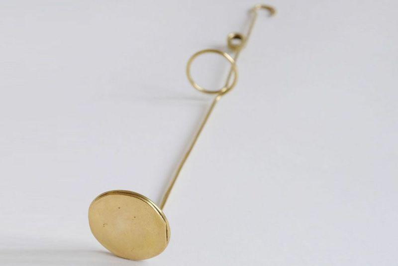 真鍮のハンギングフラワークリップ