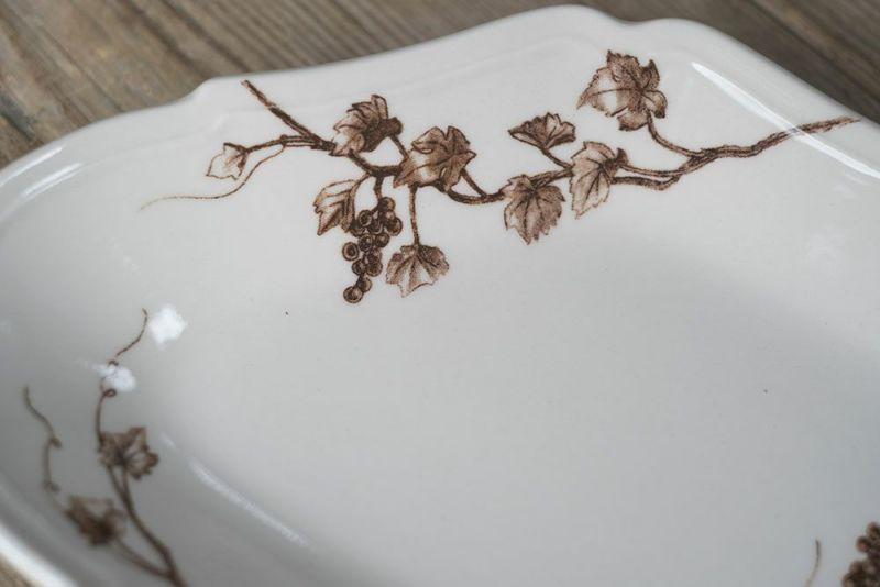 葡萄の絵皿