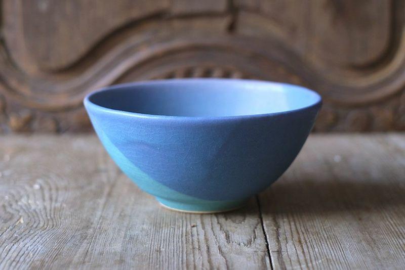色彩碧釉の美しいお椀