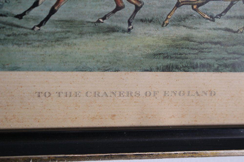 ビンテージ・リトグラフピクチャーフレーム「TO THE CRANERS OF ENGLAND」