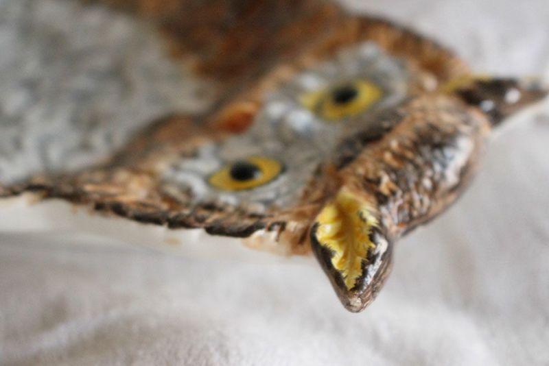 フクロウの形をした食器