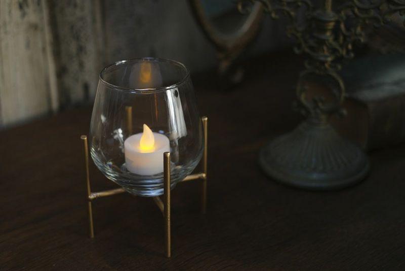 キャンドルホルダーにもなる花瓶