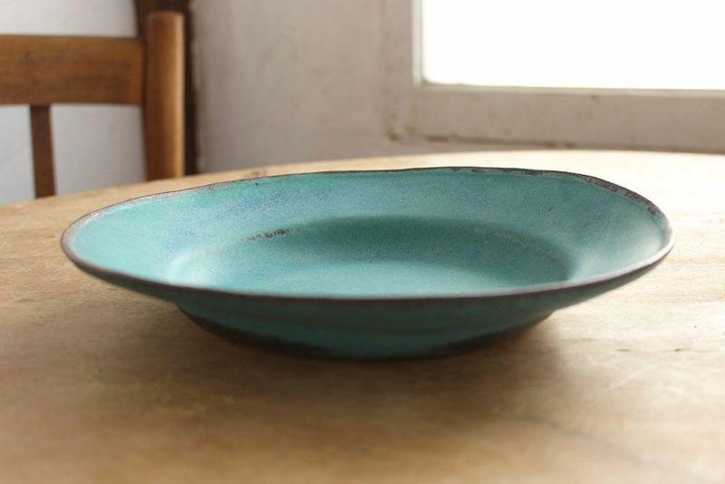 シャビーターコイズブルーのお皿