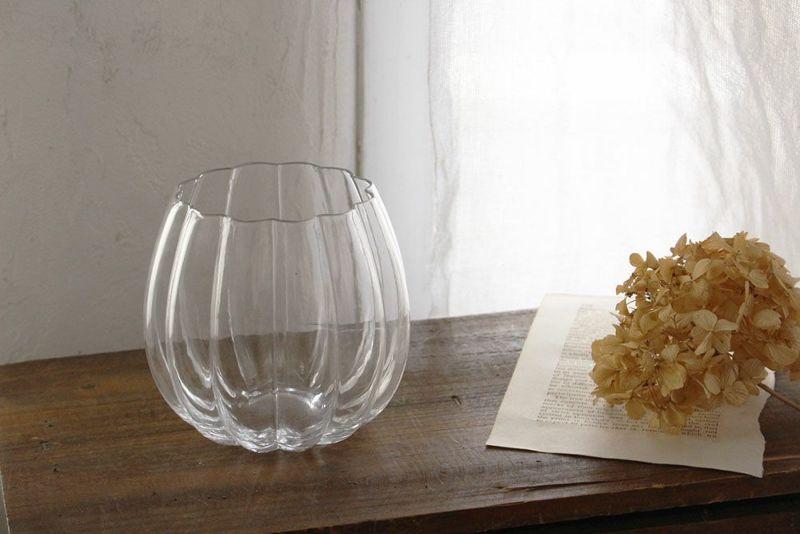 パンプキン型のガラスボール