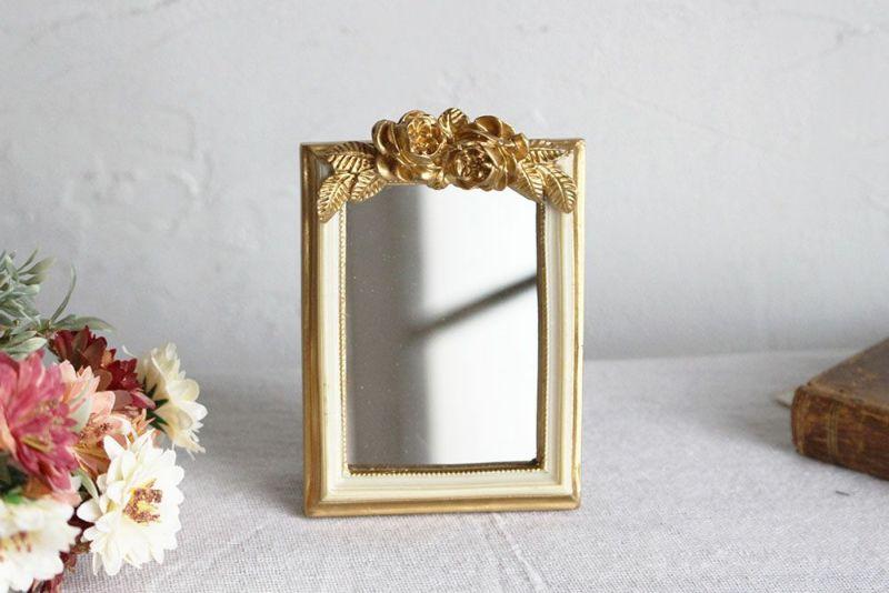 かわいい小さな卓上鏡