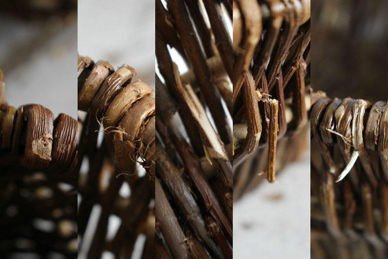 柳を編んだかご