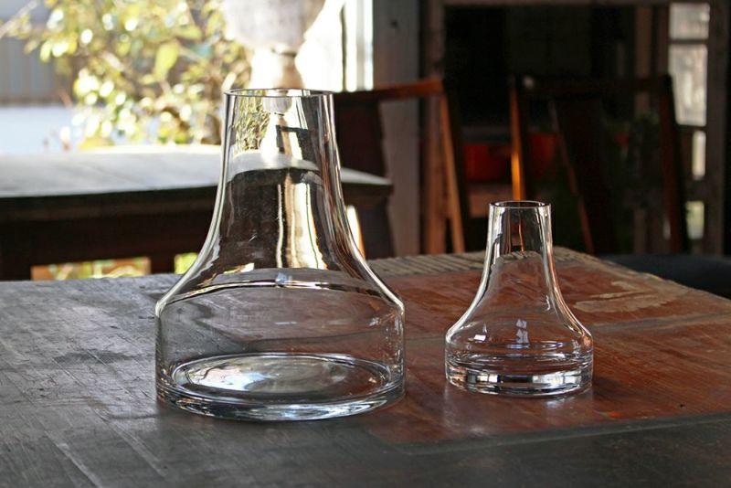 かわいい台形ガラスシリンダー