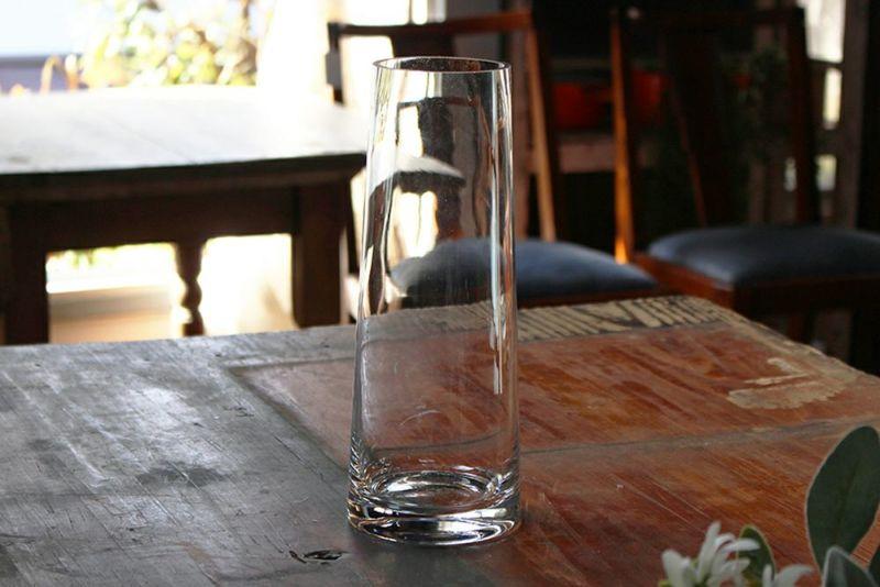 ガラスシリンダーベース花瓶